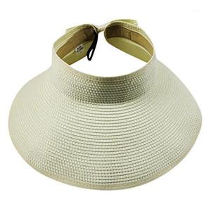 2020 New Arrivals Sun Visor Ladies Beach Straw Hat Women's Summer Hat Adjustable Sport Tennis Hats Panama Easy to Fold CG1