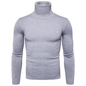 Favocent Winter Cálido Turtleneck Suéter Moda Moda Sólido Punto Hombre Sujetadores Casual Masculino Doble Collar Slim Fit Pullover 201223