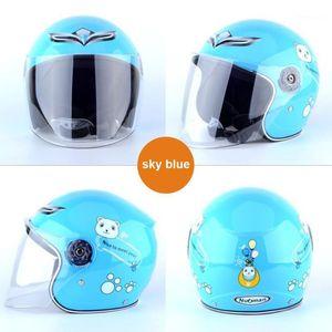 Детские мотоциклетные шлем, комфортабельные дети для велосипеда мотоциклетный шлем анти-вибрация Crashworthy шляпы спортивный подарок для ребенка1
