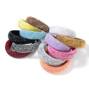 Bunte Kristallstirnband für Frau Luxus handgemachte wulstige Schwamm-Haar-Band-Brauthochzeitsfest Stirnbänder EEA2141