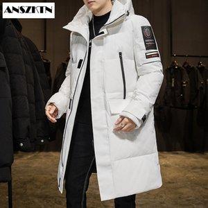 Мужские пуховики Parkas Anszktn Прибытие мода PUGHER Высококачественная толстая теплая зимняя куртка с капюшоном с капюшоном утка Parka повседневная тонкий слой