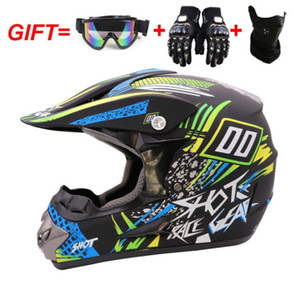 A drop-shipping ATV off-road helmet for men and women four seasons off-road helmet full face helmet with goggles mask gloves cross-border