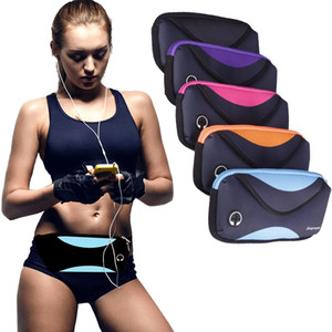 Waterproof Sports Waist Bum Bag Pouch Zip Fanny Pack with Zipper and Adjustable Belt for Running Hiking Cycling