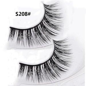1 Pair 3D 100% Real Natural Mink Thick Fake False Eyelashes Eye Makeup Lashes Extension Beauty Tools S208
