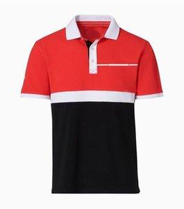 Racing Voiture Ventilateur Style Polo Chemise Hommes et Femmes Culture Culture Culture Respirant Sac à séchage rapide à manches courtes Logo Personnalisation