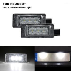 LED Light Licenses Plates Lights For 207 CC 07- 308 2 15- 2008 15- 208 License Plate Lighting 12V 3W Car Accessories1