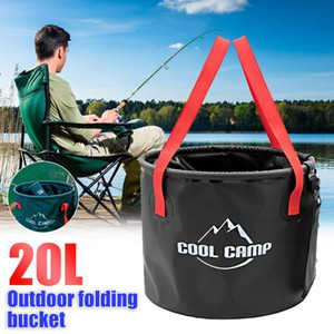 20L Outdoor Collapsible Bucket Waterproof Bag Portable Folding Bucket Basin Tourism Bag Camping Traveling Fishing