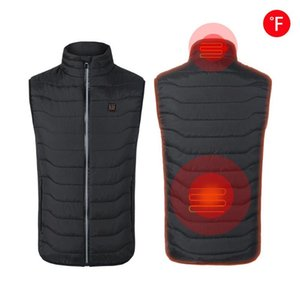Smart USB Charging Heating Vest Men's Cotton Collar Collar Warm Back Heating Cotton Vest Jacket For Cycling Skiing Coat Clothing