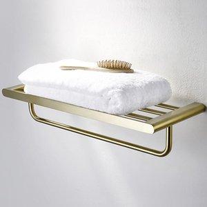 304 الفولاذ المقاوم للصدأ ناعم الذهب الحمام الأجهزة اكسسوارات الحمام مجموعة تول بار فرشاة الذهب ورق التواليت حامل رداء هوكس bbyFTs