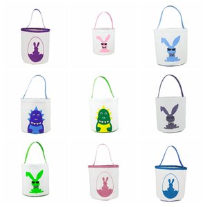 Easter Bunny Bucket 3d Printed Dinosaur Baskets Sequins Lucky Egg Baskets Kids Easter Toy Storage Rabbit Bag Easter Gifts For Kids Lxl1262