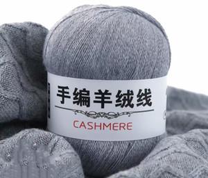 500g Natural Soft Cashmere Yarn Smooth Companion Wool Yarn Hand Knitting Scarf DIY Anti-pilling Fine Ordos Quality Thread VS010 T200601