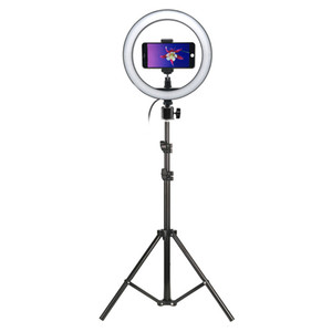 Photo Studio Camera Light Fotografia anello selfie Luce 10 pollici LED con treppiede per Tik Tok VK Youtube Live Video Trucco C1002