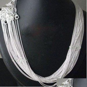 Promotions ! 925 Sterling Silver Rolo Chain Necklace For Women Pendant ,Size 1Mm 16 18 20 22 24 Inch,Fashion Silver Women Jewelry Gprvm