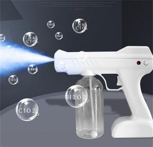 2021 Kablosuz Şarj Gun 800ml Dezenfeksiyon El Temizleyici Gun El Mavi Nano Taşınabilir Elektrikli Parçalamalı Makinesi FS9001 Spreyi