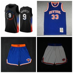 NouveauYorkKnicksJersey Jersey Patrick 33 Ewing Walt 10 Frazier R.J. 9 shorts de basketball Barrett Basketball Jerseys Bleu 1223