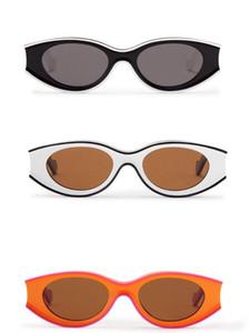 2020 New fashion sunglasses special design color square frame round lens Avant-garde style crazy interesting design Size:51-21-145