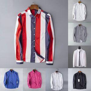 Nouvelle vente Designer Hommes Hommes Robe Chemises Mode Casual Shirt Chemises Hommes Chemises Spring Automne Slim Homme Chemises Chemises de Marque Versez HOMMES