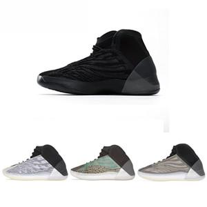 2021 Новая мода Kanye West 3M Zebra баскетбол квантовые черные мужчины бенневые ботинки статический отражающий спортивный тренер женщин кроссовки # 0250