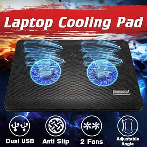 Laptop Cooler Gaming Laptop Cooling Pad Бесшумный Стенд с охлаждающим вентилятором и 2 USB портов для 14 15 17inch ноутбуков
