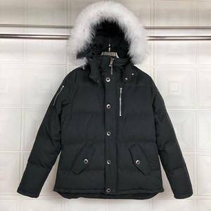 Yeni Kış Erkek Aşağı Ceket Moda Rüzgar Geçirmez Cep Palto Kalın Sıcak Kapüşonlu Gevşek Aşağı Ceket S-XXL