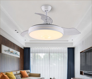 Invisible Fan Light Modern Simple Dining Room Living Room Lamp Bedroom Ceiling Fan Light Ultra Thin Ceiling Lamp LED Dining