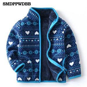 SMDPPWDBB Spring Fall Winter for Children Kids Girls Cute Soft Polar Fleece Jacket Coat Outerwear Cardigan Clothes Sweatshirt Y200919