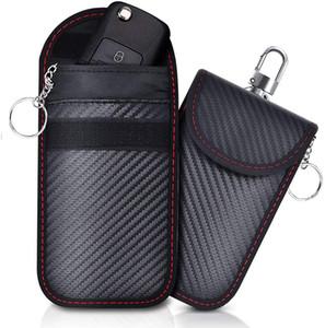 Bolsa de bloqueio do sinal RFID Faraday Chave Remoto Cartões de Crédito Bolso Bolso Com Gancho Anti-Hacking Bluetooth Wifi GPS Bloqueio