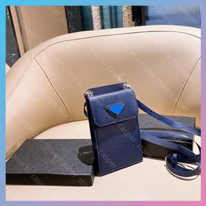2021 새로운 패션 가방 브랜드 남성 Luxurys 디자이너 핸드폰 파우치 숄더 가방 Luxurys 디자이너 휴대 전화 가방 코인 지갑 변화 지갑