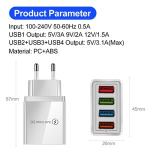 Quick Charge 3.0 For Charger Wall Fast Charging For Plug Xiaomi Mi Huawei Mobile Phone Chargers Adapter