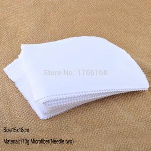 100 шт. 170GSM 15x18CM Сублимационные белые очки объектив очки очки для очков из микрофибры очистки ткани пользовательских очков очистки ткани 201021