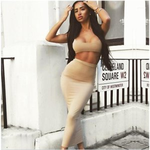 Dresses Due abiti da donna Fashion New Style Sling Sling Sump Wrap Belly Buttom Long Gonna Set Designer Femmina Sexy Skirt Skirt Skirt Suits