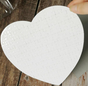 Sublimation Blanks Heart Puzzles DIY Puzzle Heart love Shape Puzzle Hot Transfer Printing Blank Consumables Child Toys Gifts