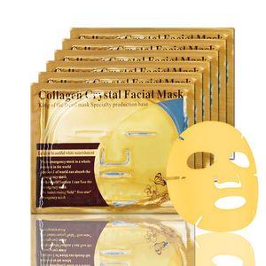 Cheap wholesale Gold Bio-Collagen Facial Mask Face Mask Crystal Gold Powder Collagen Facial Mask Moisturizing Anti-aging 24k Gold Masks