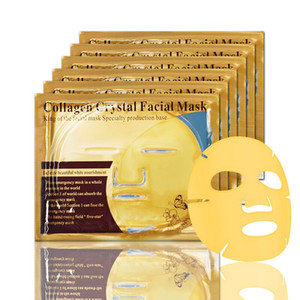 Gold Crystal Masque Bio-Collagen Gold Facial Masque Facial Powder Powder Collagen pas cher Hydratant Anti-âge Face Masques Visage 24K OVFHD