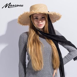 Lace Mesh Dots Bow Raffia hats Panama Style Straw Cap For Adult Summer Folding Bucket Sun Hats Solid Sunmmer Straw Beach Hat