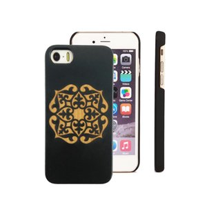 Fashion Style Spray Black Wooden Cell Phone Cases For iPhone 6 7 8 X XR XS 11 Pro Max