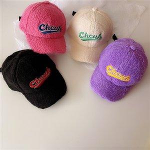 Çocuklar için şapkalar sonbahar ve kış yeni sıcak kap karikatür yün bebek beyzbol şapkası toptan gelgit çocuklar şapka