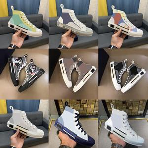 2021 B23 B22 B24 Tasarımcı Sneakers Obliques Teknik Deri Yüksek Düşük Çiçekler Platformu Açık Rahat Ayakkabılar Vintage Boyutu 36-45 Q2QC #