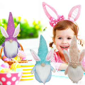 UPS DHL Easter Bunny Gnome Decoration Easter Faceless Doll Easter Rabbit Plush Dwarf Home Party Decorations Kids Toys DHL fast FY7479