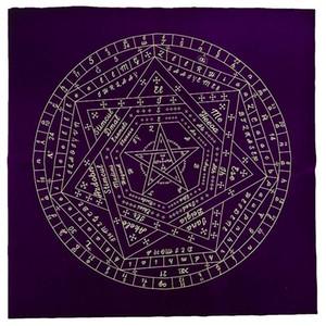 TAROT TABLECOTH ALTAR TAROT Panno di stoffa Stili Nero Altare Pentagram Retrò Tablecloth Regali di Natale Carta