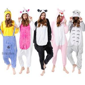 الكبار ملابس نوم نسائية ملابس kigurumi جميع في منامه الحيوان واحدة الدعاوى تأثيري الباندا TOTORO النمر يونيكورن الملابس بيما
