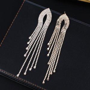 Yfjewe Fashion Women Long Streamined Tassel Crystal Pendientes Mujer Chica Joyería Pendante Femme 278 J2