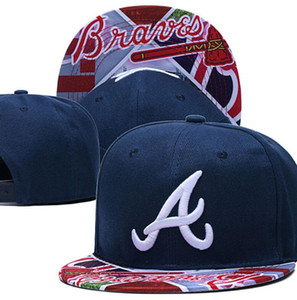 Top Quality One Piece Classic Braves Snapback Hats Embroidered Logo Bones Sports Chicago Baseball Flat Caps For Men women a30