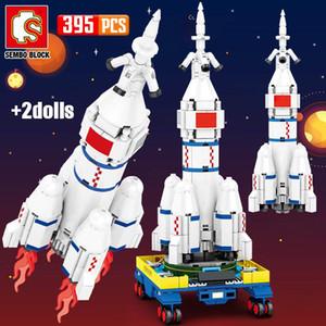 Sembo New City Technic Aerospace Rocket Building Blocks Creator lanceur spatial astronaute Figure Briques Jouets pour les enfants Cadeaux wmthwE