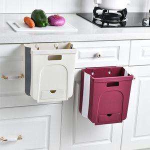 Складные Trash Can Кухня Туалет Настенная Trash Can бытовой Гостиная Ванная Креативный New Trash Can C0930