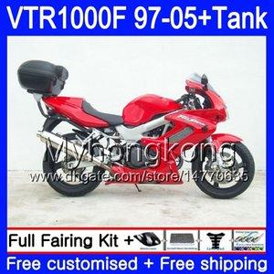 Body +Tank For HONDA SuperHawk VTR1000F Factory red 97 98 99 00 01 05 56HM.37 VTR1000 F VTR 1000 F 1000F 1997 1998 1999 2000 2001 Fairings