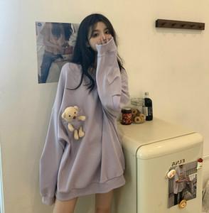 2020 Super Fire Bear Salt Sweatshirt Women's Autumn New Style Korean Net Red Loose Design Sleeve Top