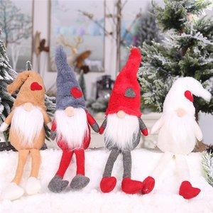 Natale nuove decorazioni bambole della peluche con i piedi senza volto bambola ornamenti foresta creativo commercio estero anziani caldo sale02