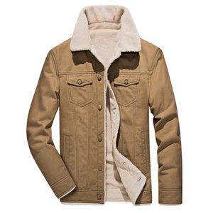 Winter And Clothes Mens Fleece Fur Jackets Streetwear Coat Men Windbreakers Military Long Khaki Black 4xl Coats Epglx