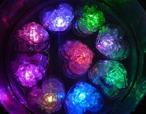 Flash Love Ice Cube Flash activado por agua Flash LED de la luz de la bebida del agua Flash automáticamente para las barras de boda de la fiesta Suministros de Navidad EWD34